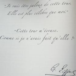 Gustave Eiffel : petit mot