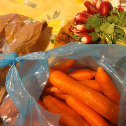 des bons fruits, légumes ..